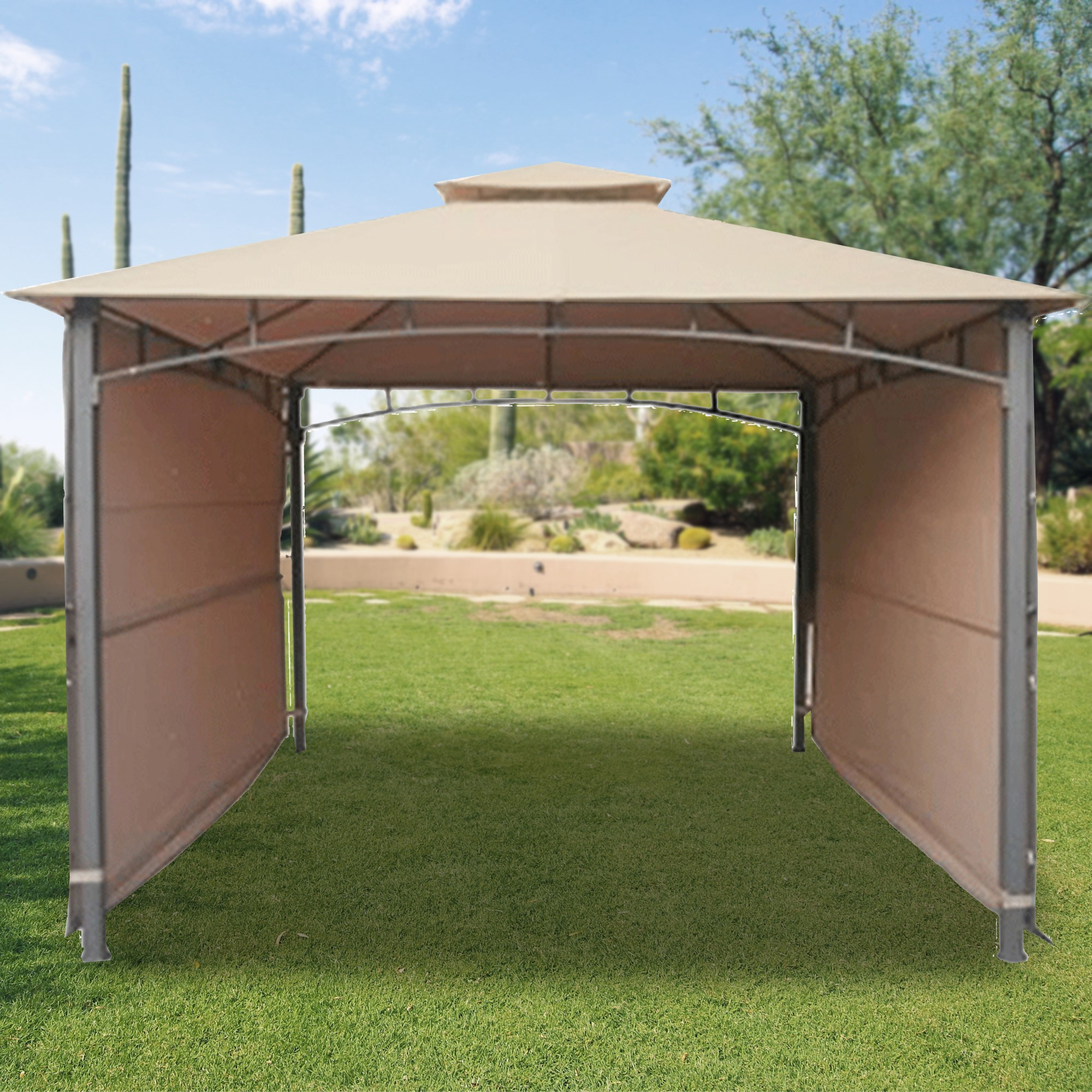 Replacement Canopy For Double Awning Gazebo Riplock 350 pertaining to dimensions 2000 X 2000