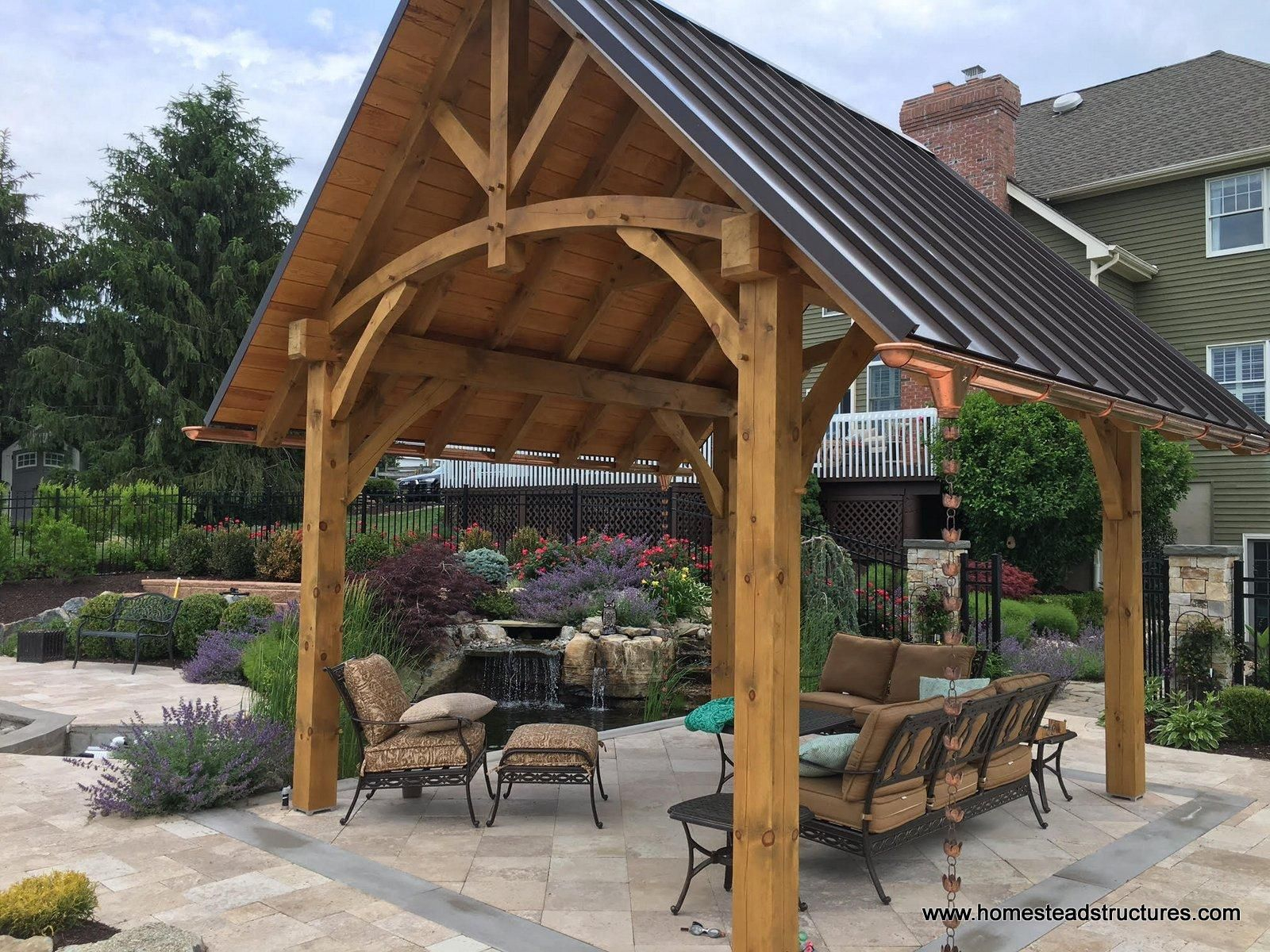 12 X 14 Timber Frame Pavilion With Standing Seam Metal with regard to proportions 1600 X 1200
