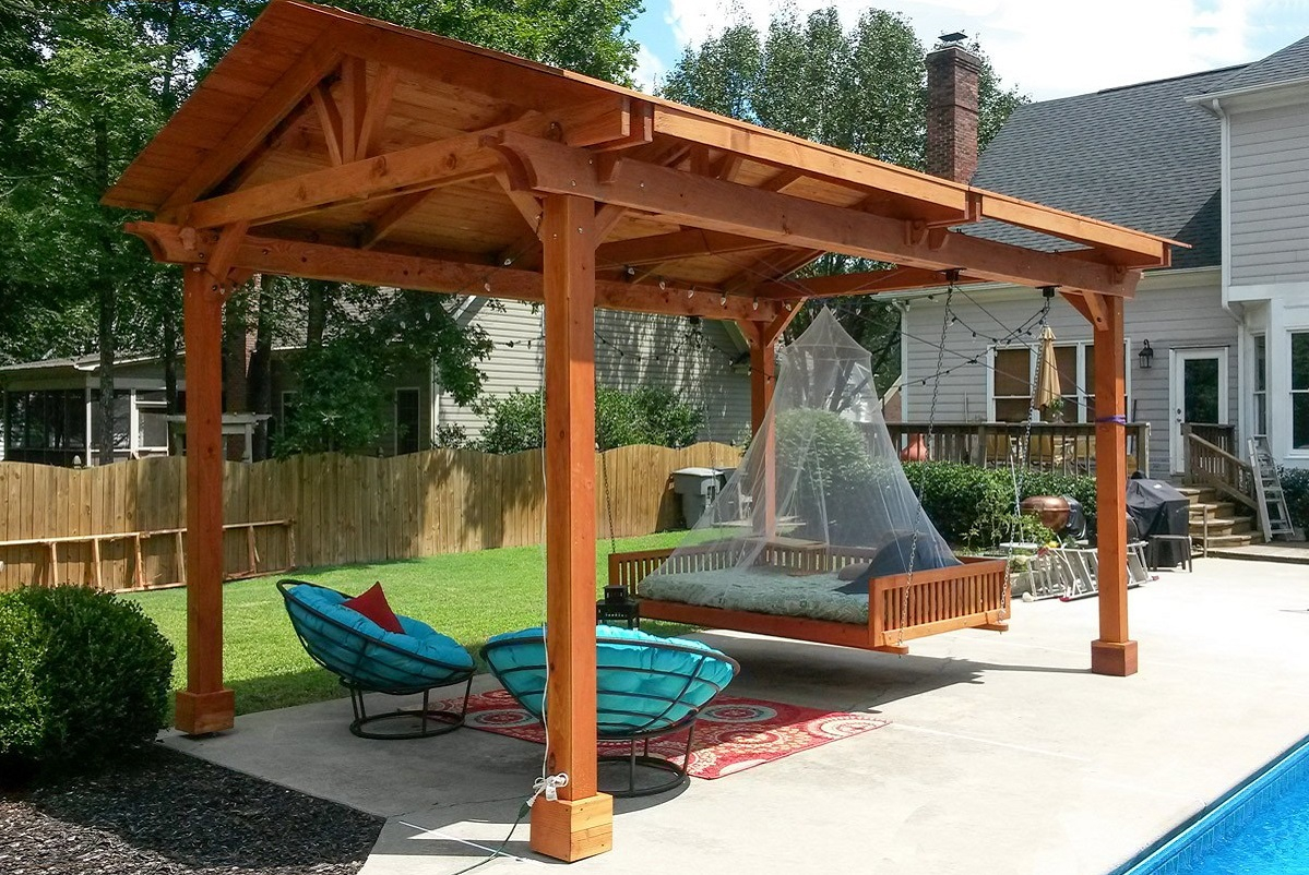 12x12 Patio Gazebo Wood Design Home Ideas for proportions 1199 X 802