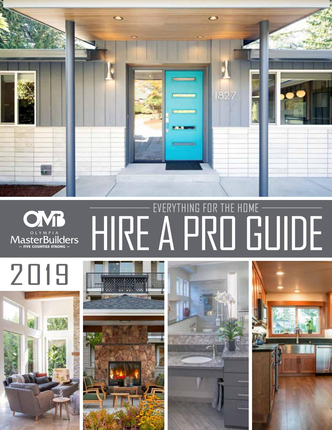 2019 Hire A Pro Guide Olympia Master Builders Issuu throughout sizing 1148 X 1490