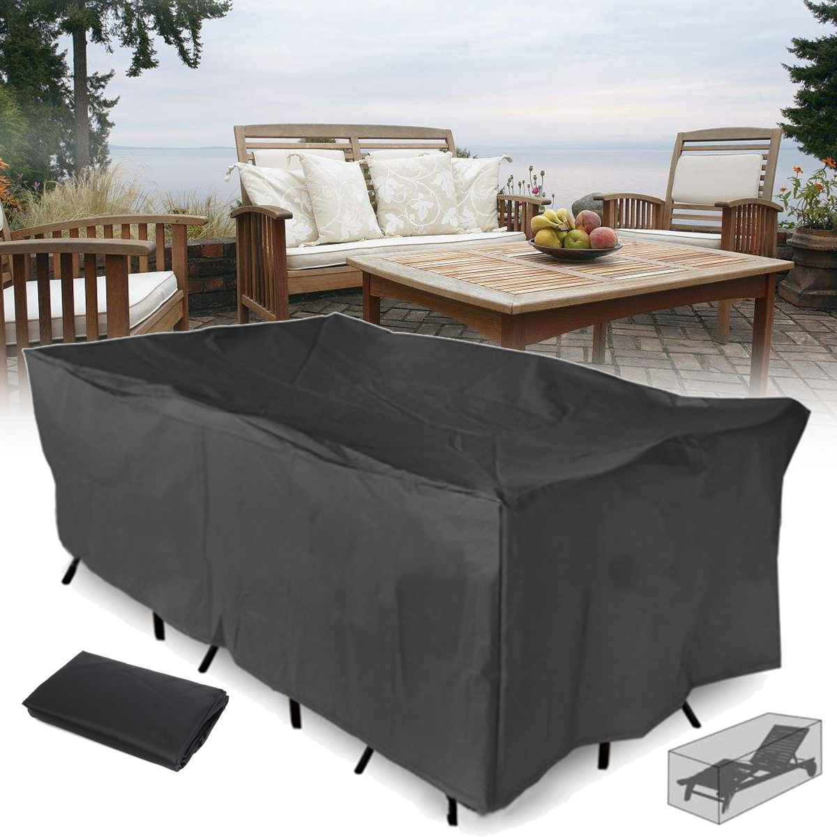 210x110x70cm Outdoor Garden Patio Furniture Waterproof Dust Cover Table Chair Sun Shelter within proportions 1200 X 1200