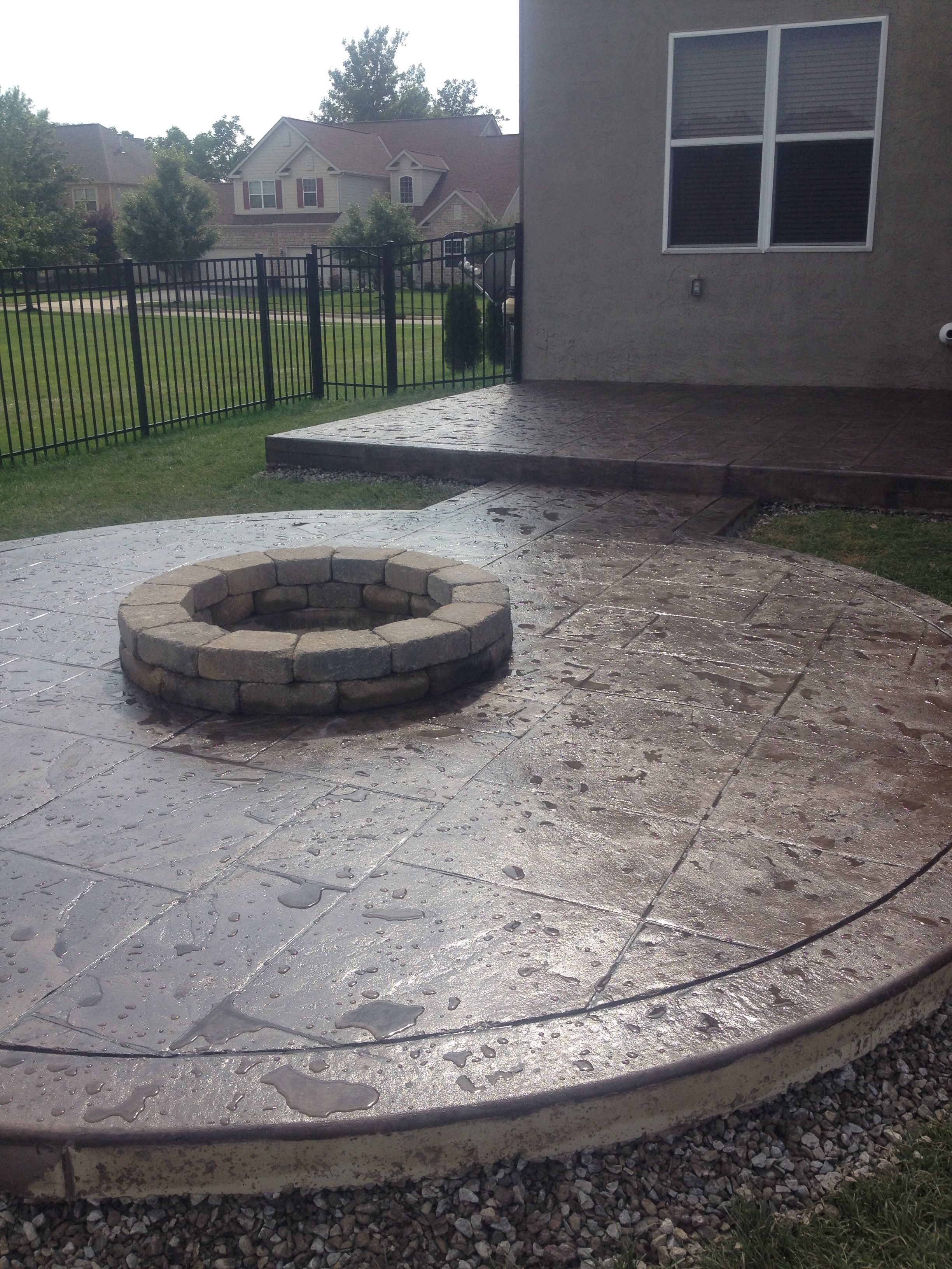 A Beautifully Designed Colored Stamped Concrete Patio Using in dimensions 2448 X 3264