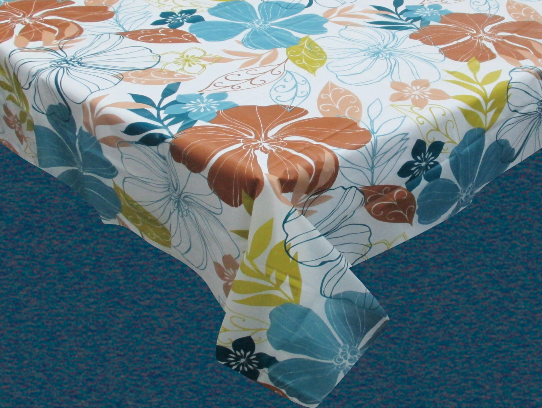 Amscanhibiscus Flannel Backed Party Table Cover 52 X 90 in size 1842 X 1389
