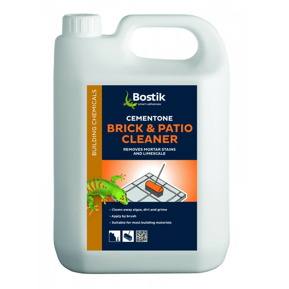 Bostik 25 5l Brick Patio Cleaner Removes Mortar Cement Stains within sizing 1000 X 1000