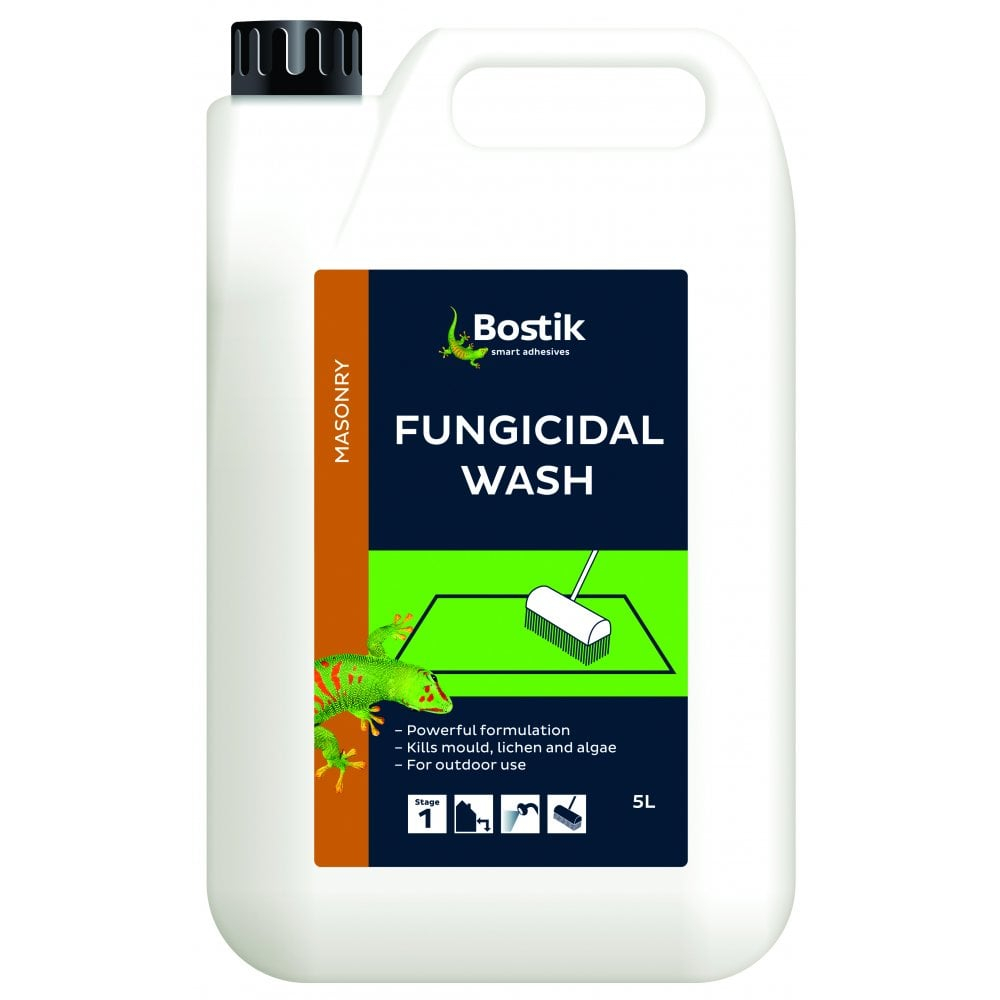 Bostik 5l Fungicidal Wash Pathdrivewayroof Cleaner Lichen Algae Remover regarding size 1000 X 1000