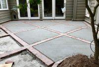 Brick And Concrete Diamond Design Patio In 2019 Patio regarding size 3626 X 2720