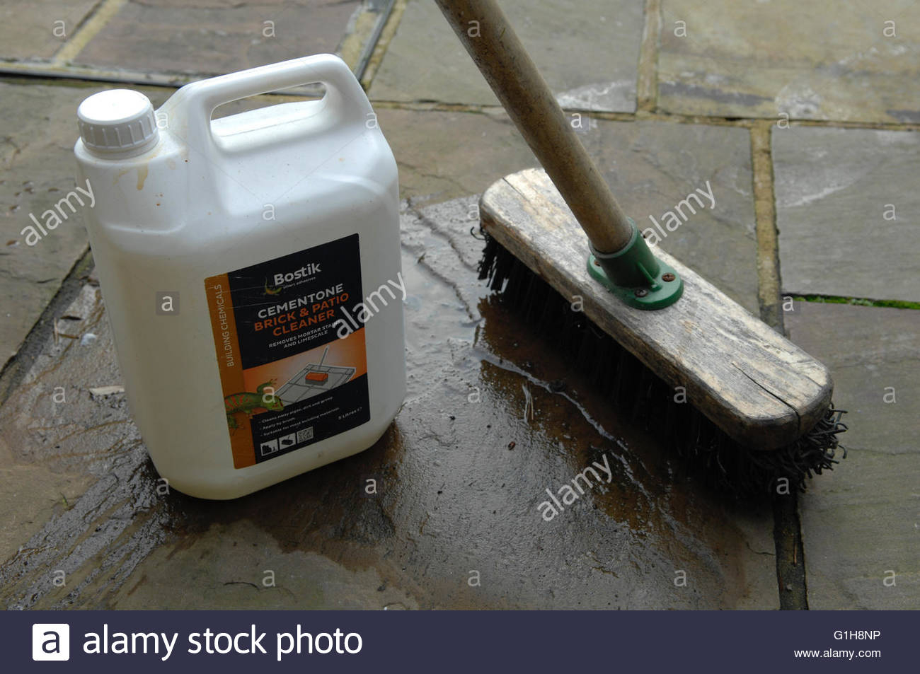 Brick Cleaning Product And Brush Stock Photo 104256930 Alamy for dimensions 1300 X 953
