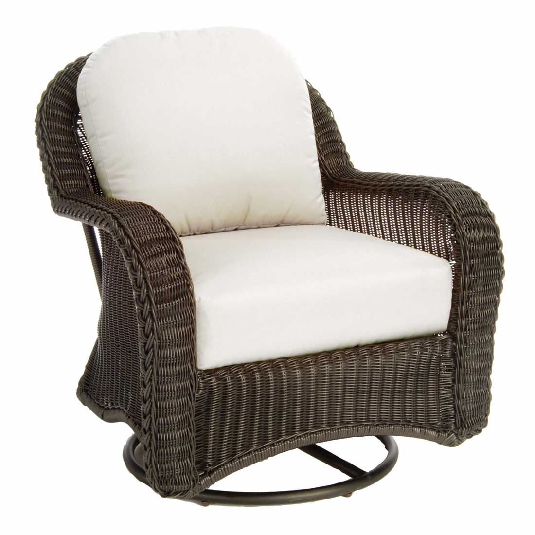 Classic Outdoor Wicker Swivel Glider within dimensions 1100 X 1100