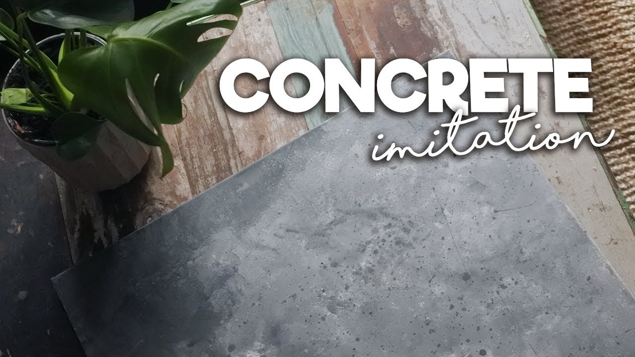 Concrete Look With Chalk Paint for dimensions 1280 X 720