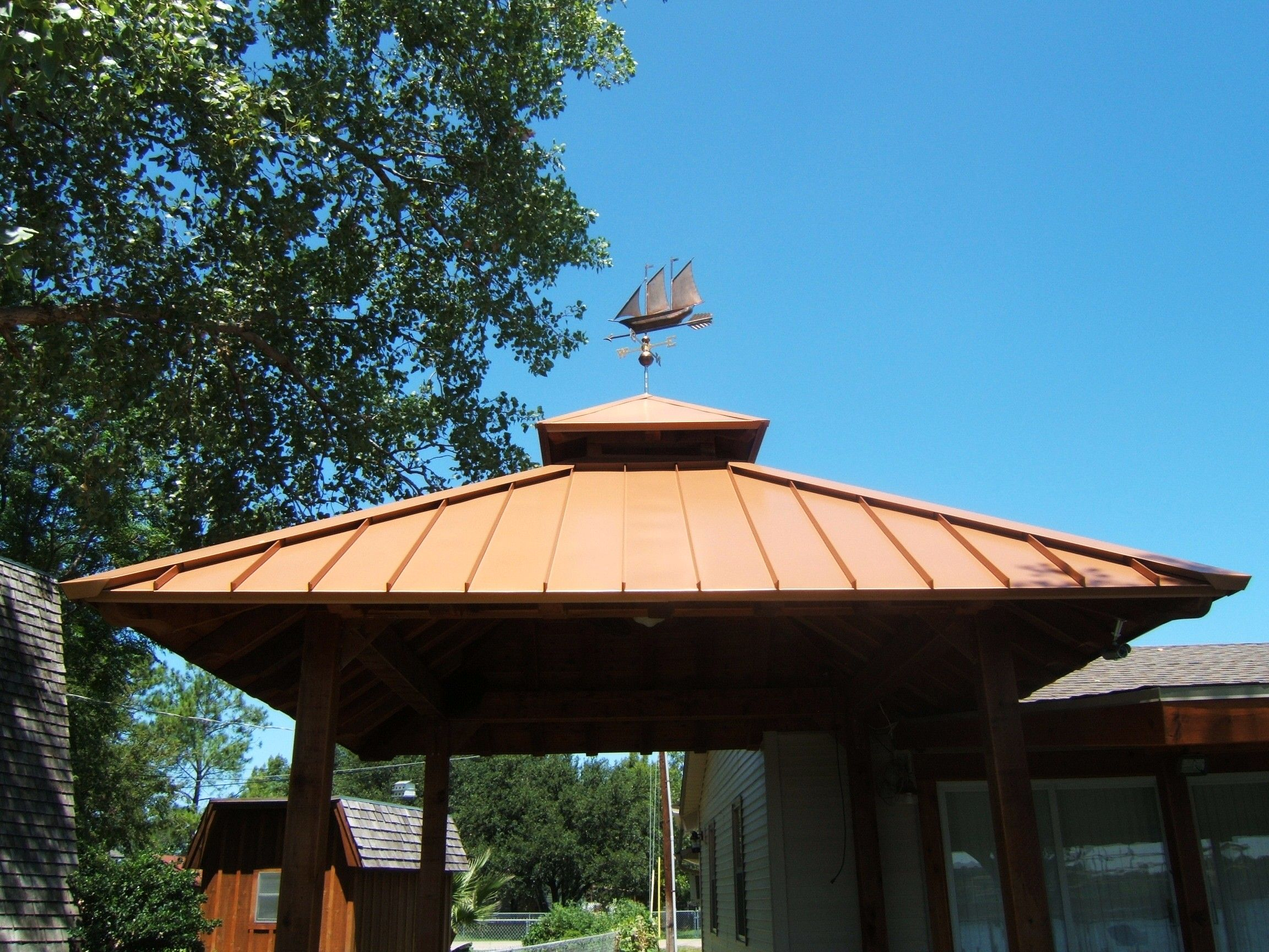Copper Roofing For Patio Cover Carport Patio Backyard regarding sizing 2304 X 1728