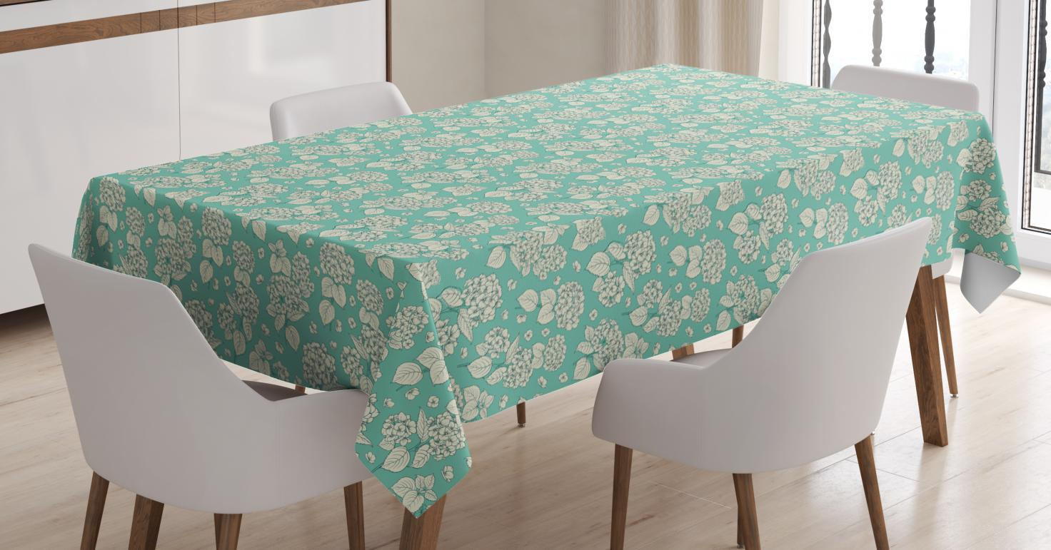 Easter Fabric Tablecloth Blue With Flowers 60 X 84 Kitchen throughout dimensions 1472 X 771