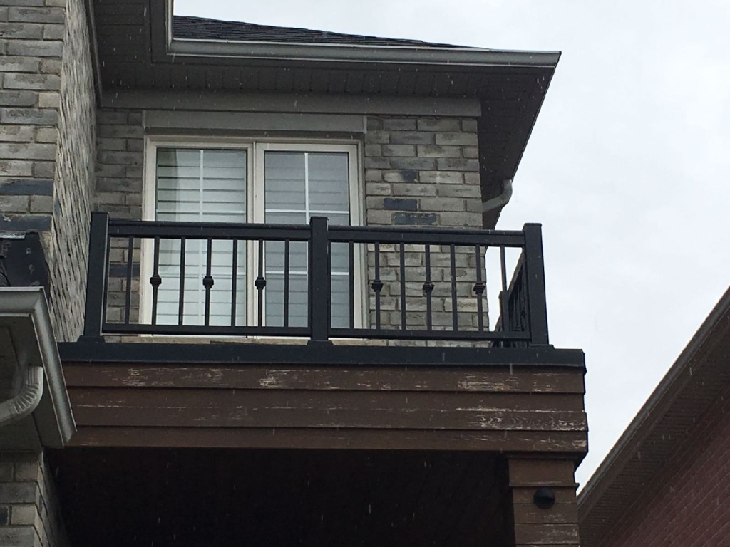 Exterior Aluminum Railings Balcony Vaughan Aluminum Fence throughout size 1024 X 768
