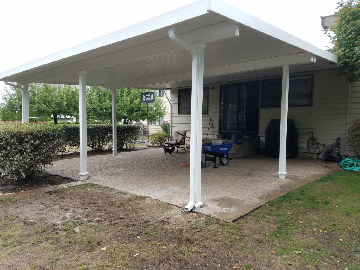 Flat Panel Patio Covers Installed In Puyallup Tacoma Enumclaw in size 1200 X 900