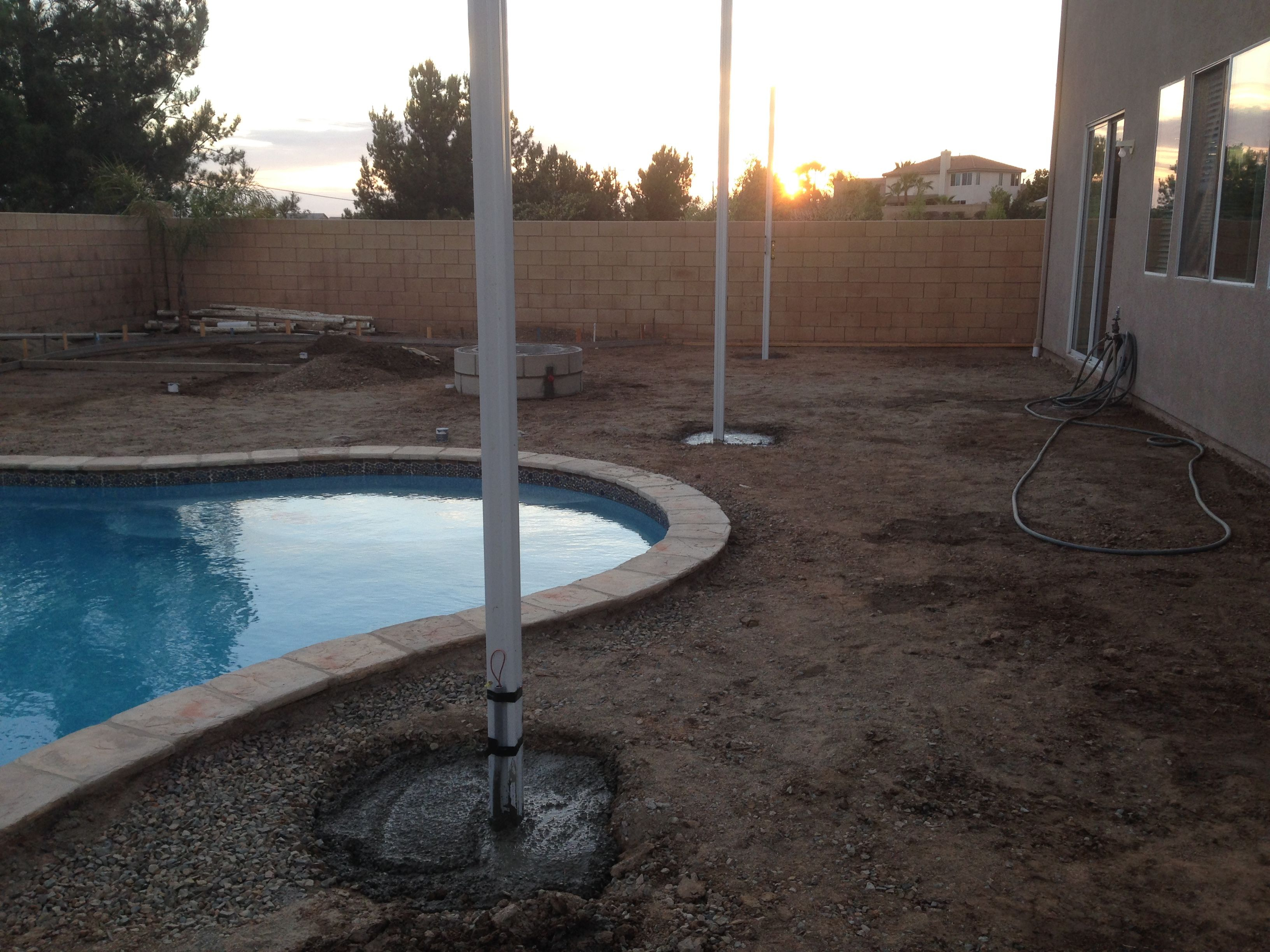 Footings Before Concrete And Alumawood Patio Cover This for proportions 3264 X 2448