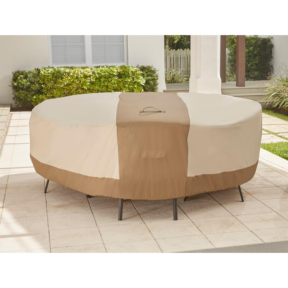 Hampton Bay Round Table Outdoor Patio With Chair Cover with regard to measurements 1000 X 1000