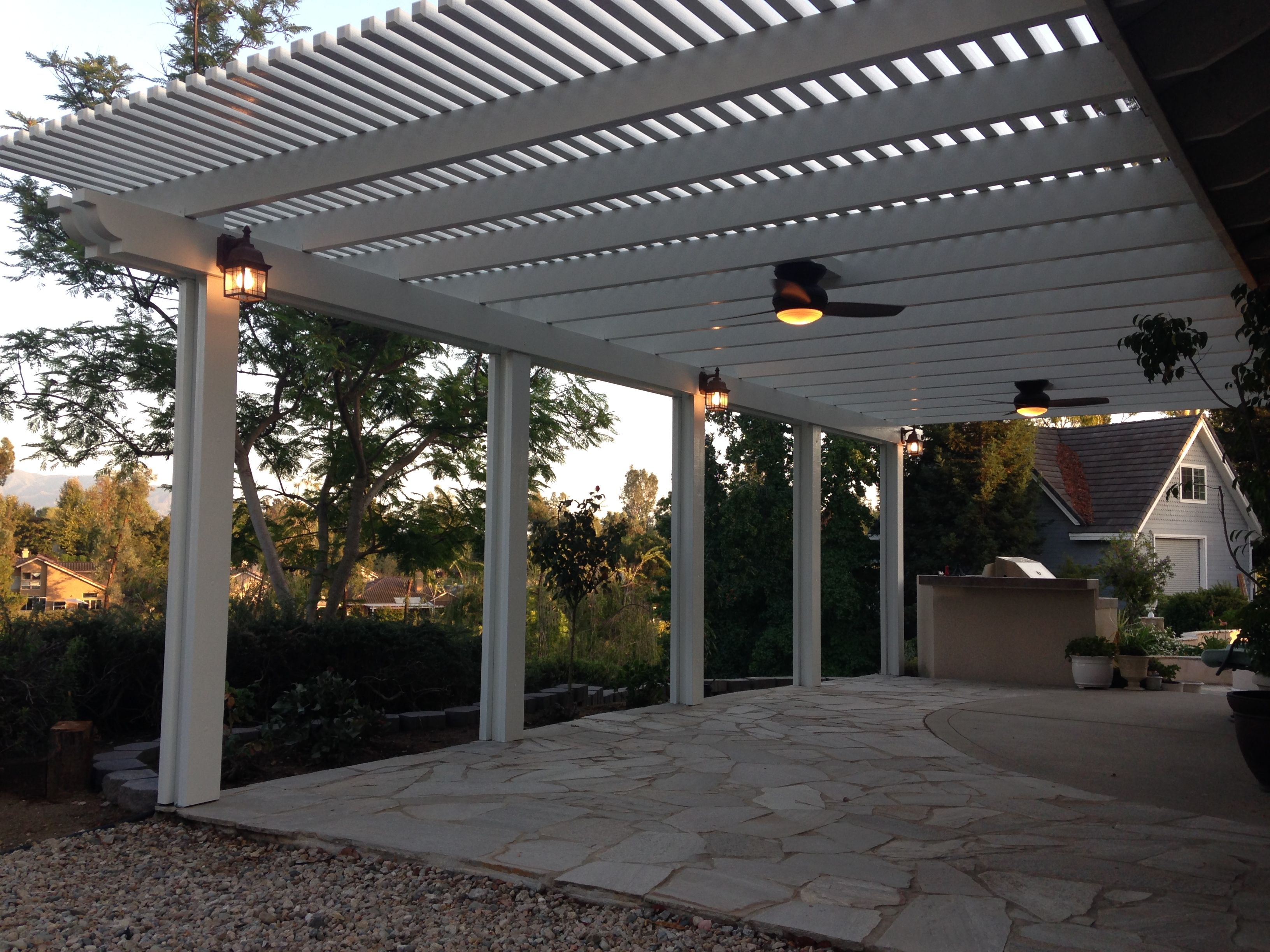 Lattice Patio With Electrical Upgrades Fans Lights And inside sizing 3264 X 2448