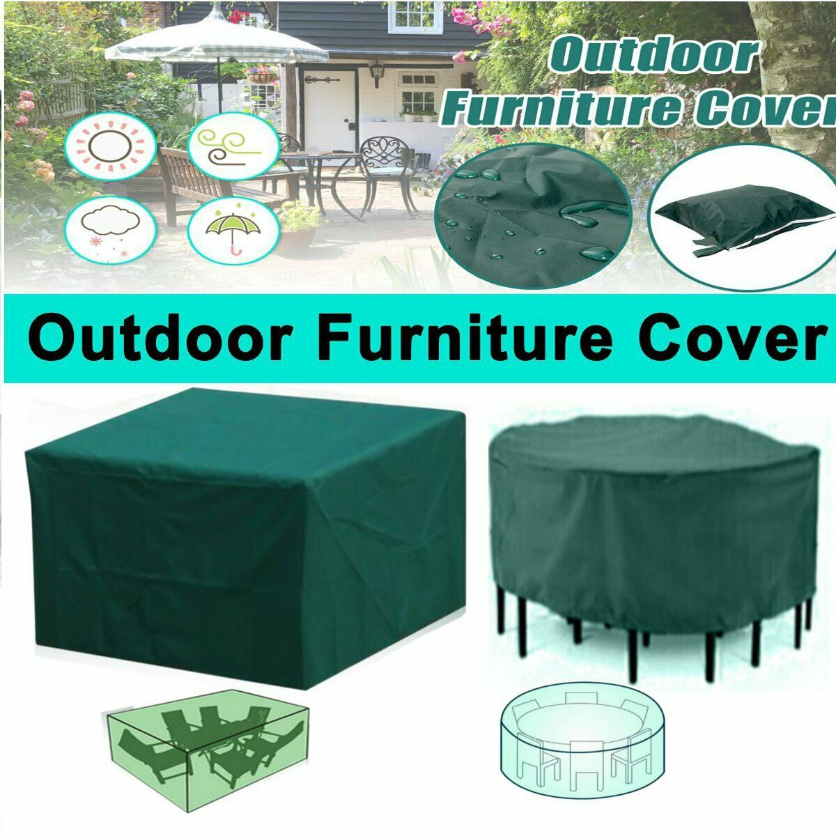 Outdoor Garden Patio Furniture Cover Set Rattan Table Round Cube Waterproof inside dimensions 1200 X 1200