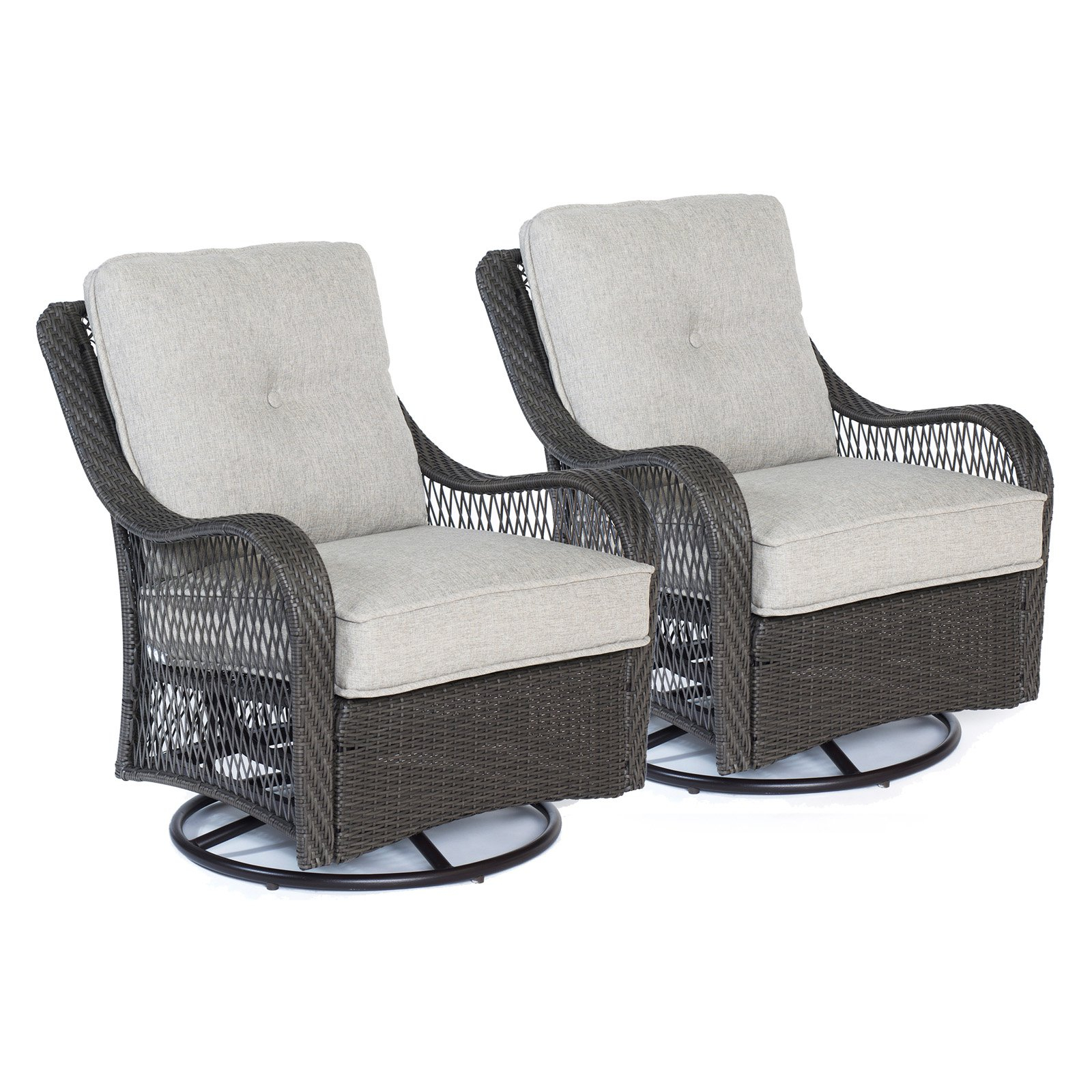 Outdoor Hanover Orleans Wicker Swivel Rocking Chair Set Of in proportions 1600 X 1600
