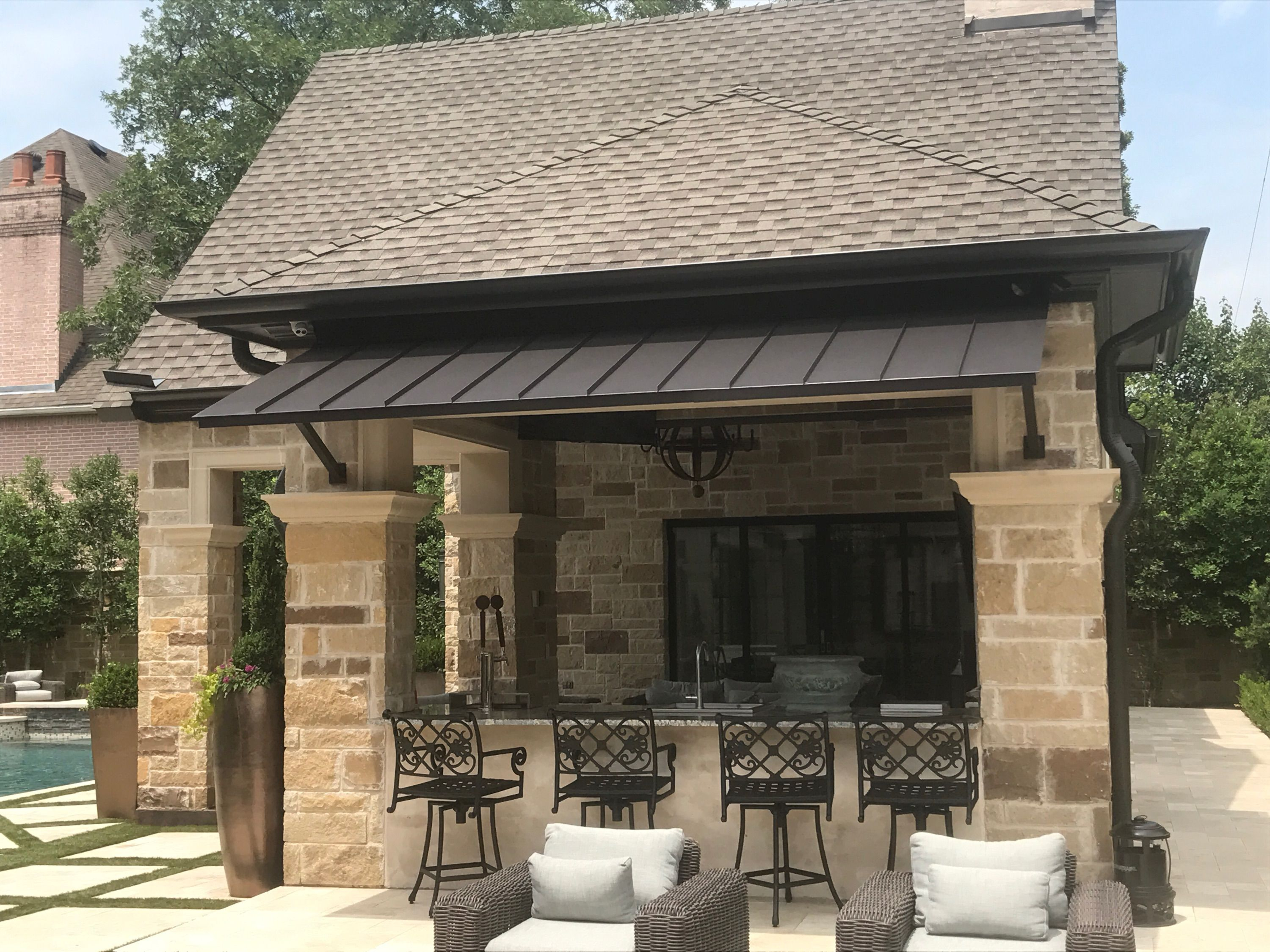 Outdoor Kitchen Awning Standing Seam Metal Roof Awning inside size 3000 X 2250