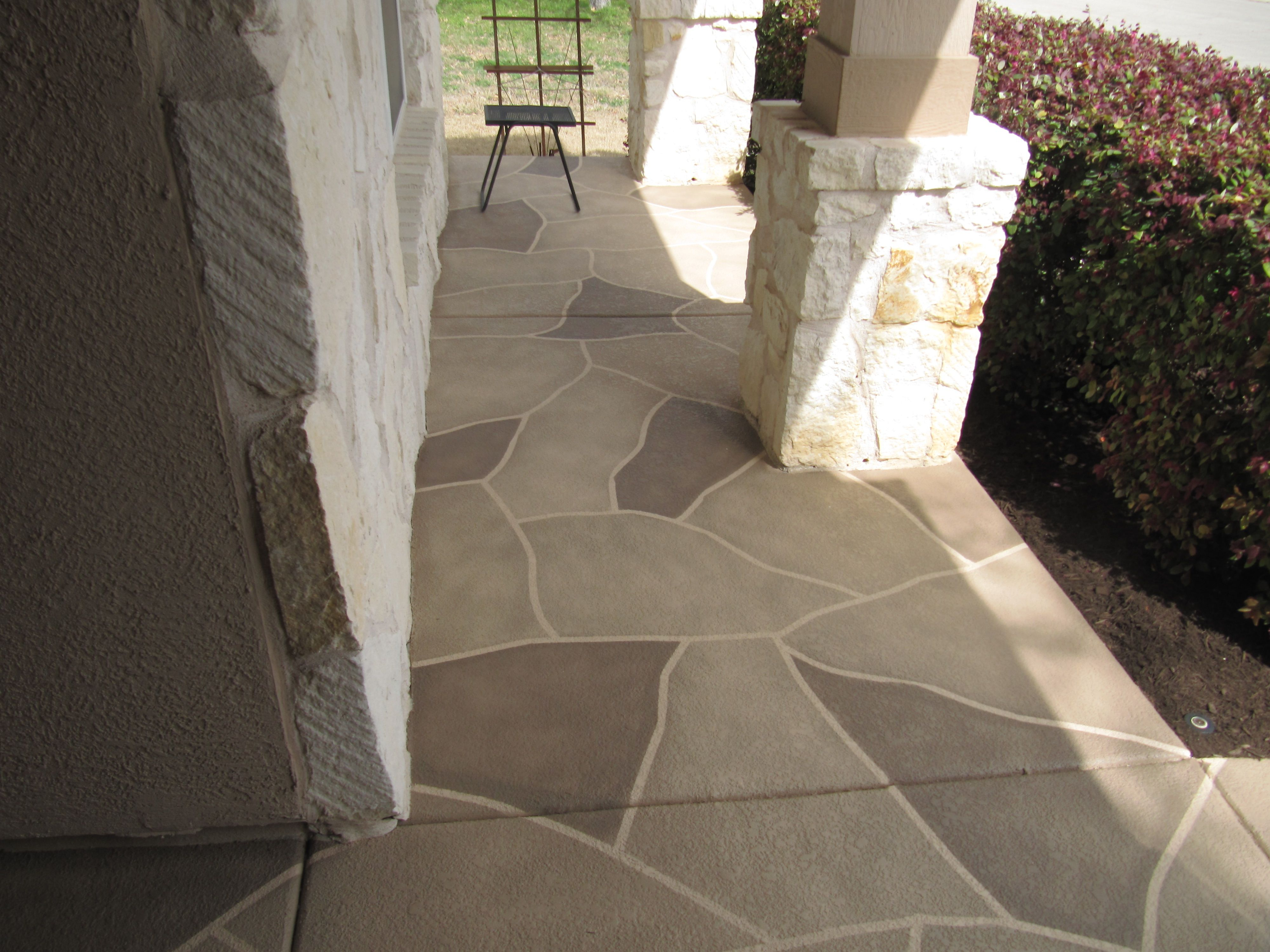 Painted Patio Stone Pattern Lasts A Lifetime And Is Stain with regard to sizing 4000 X 3000