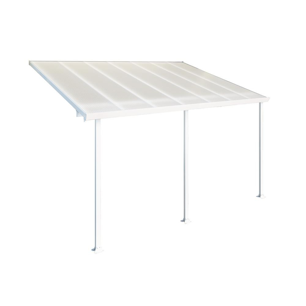 Palram Feria 10 Ft X 14 Ft White Patio Cover Awning for measurements 1000 X 1000
