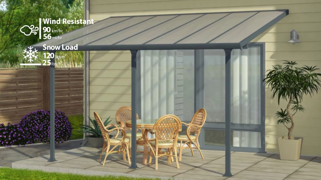 Palram Tuscany Patio Cover Pergola Awning in size 1280 X 720