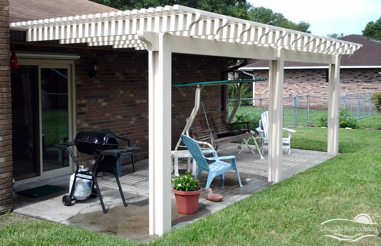 Pergolas Patio Covers Photo Gallery Lifestyle Remodeling regarding proportions 1272 X 822