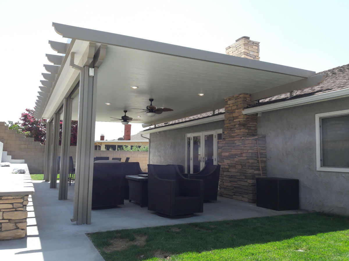 Photos Of Aluminum Patio Covers Seamless Rain Gutters throughout dimensions 1200 X 900