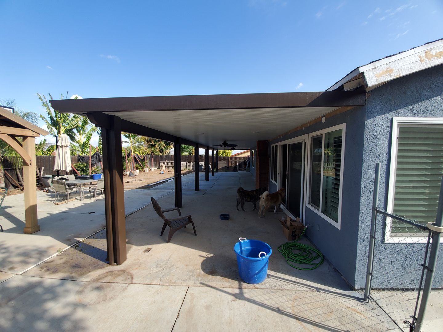Photos Of Aluminum Patio Covers Seamless Rain Gutters throughout sizing 1440 X 1080