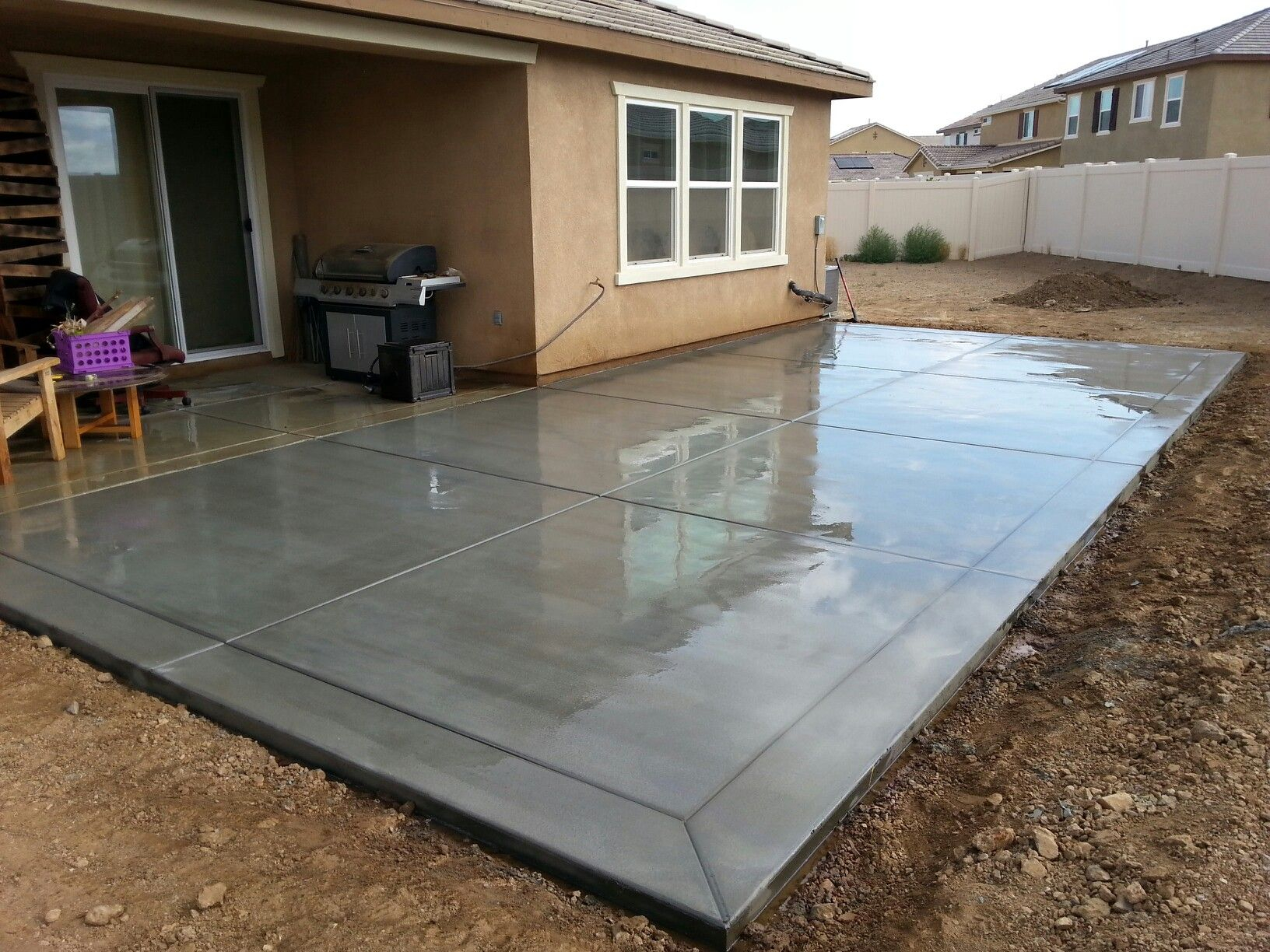 Pin Joey On Projects To Try Concrete Slab Patio Patio in proportions 1632 X 1224