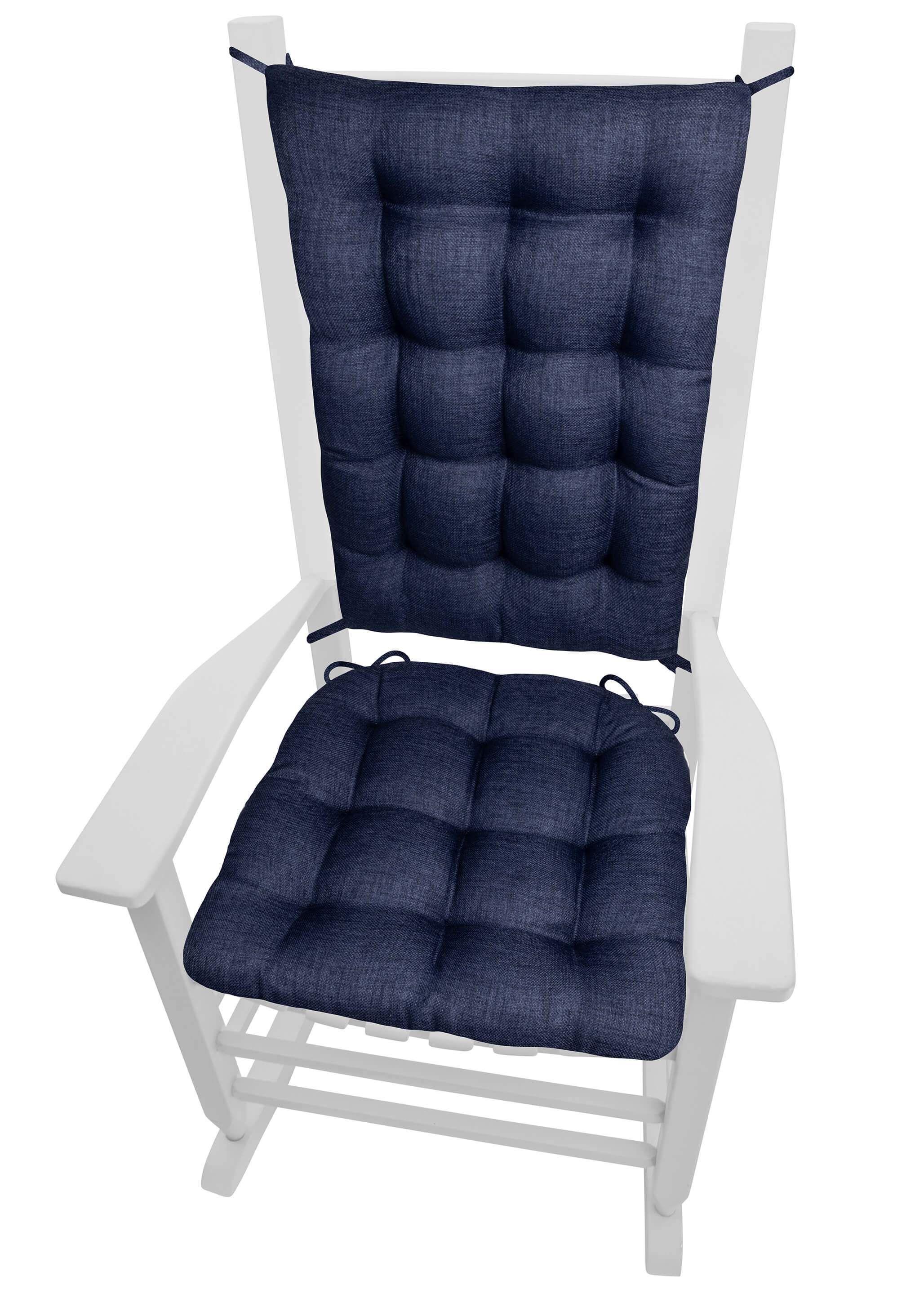 Rave Indigo Blue Porch Rocker Cushions Latex Foam Fill with dimensions 2056 X 2878