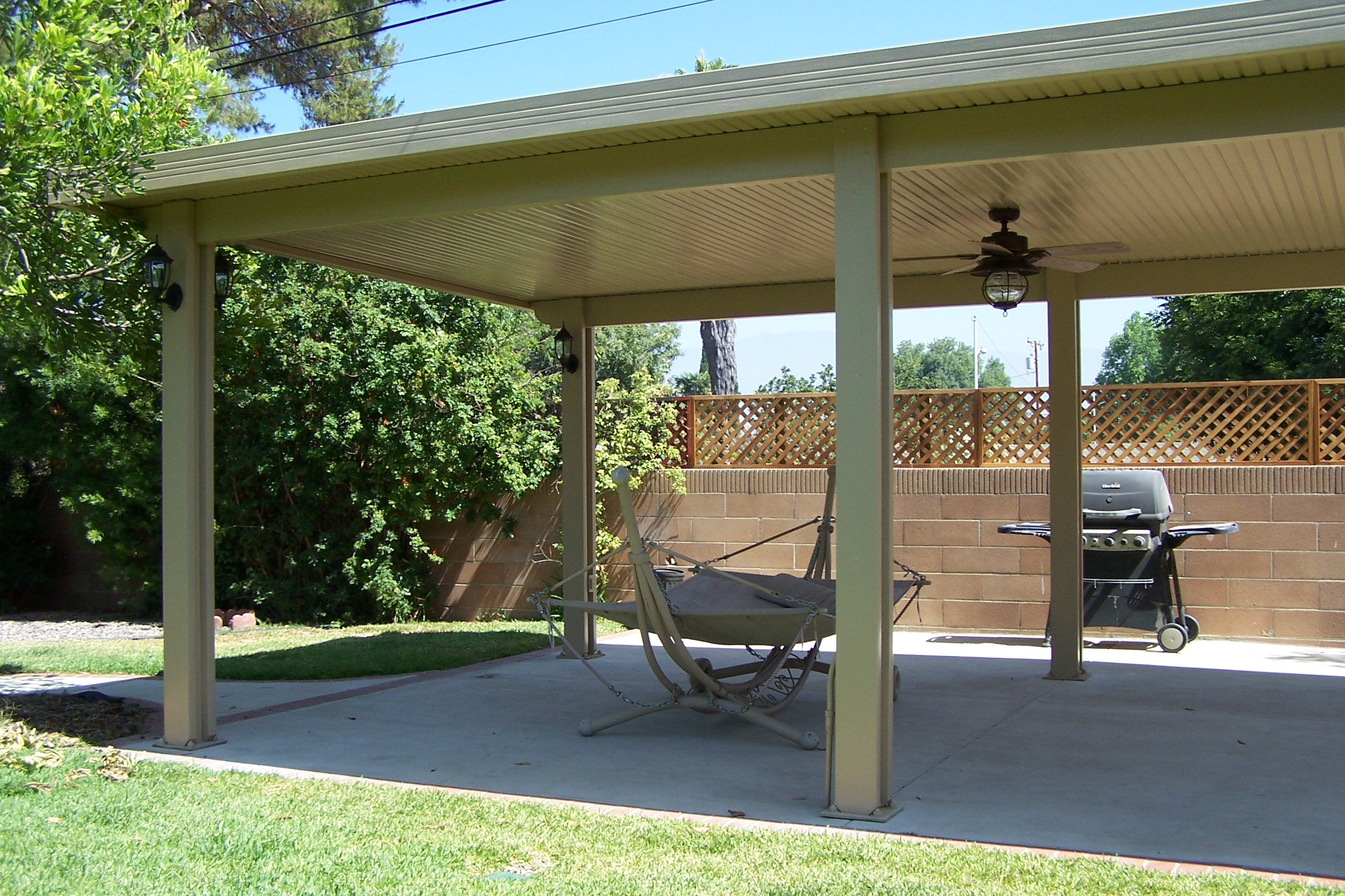 Simple Patio Covered Aluminum Insulated Cover Vs Non Orange throughout measurements 2576 X 1716