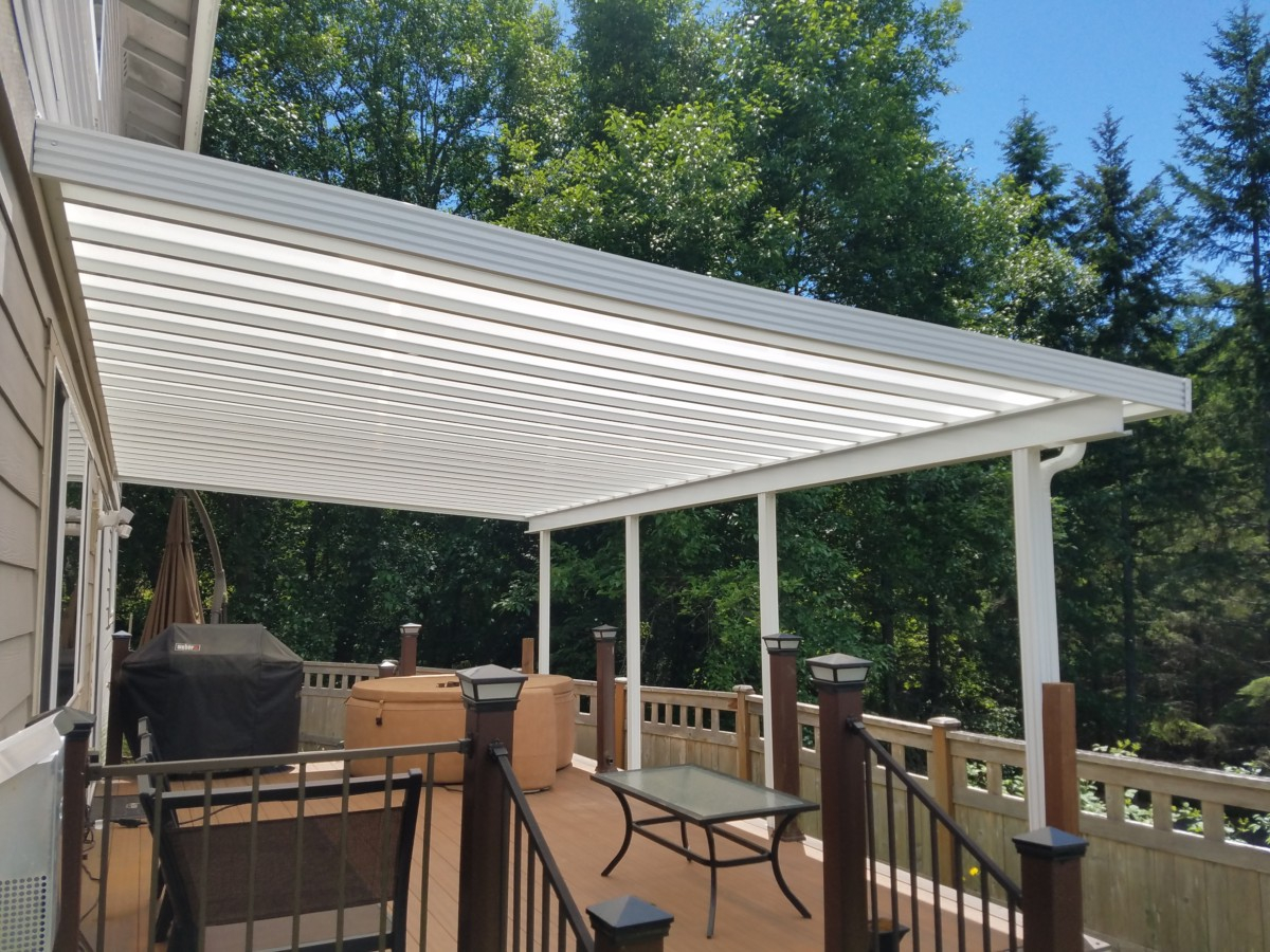 Skylight Patio Cover Installation In Tacoma Puyallup Enumclaw with proportions 1200 X 900