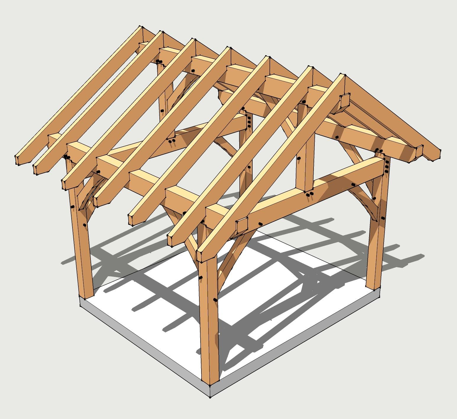 Square Gazebo Plans 12x12 Gazebo Plans Timber Frame Homes inside dimensions 1545 X 1415