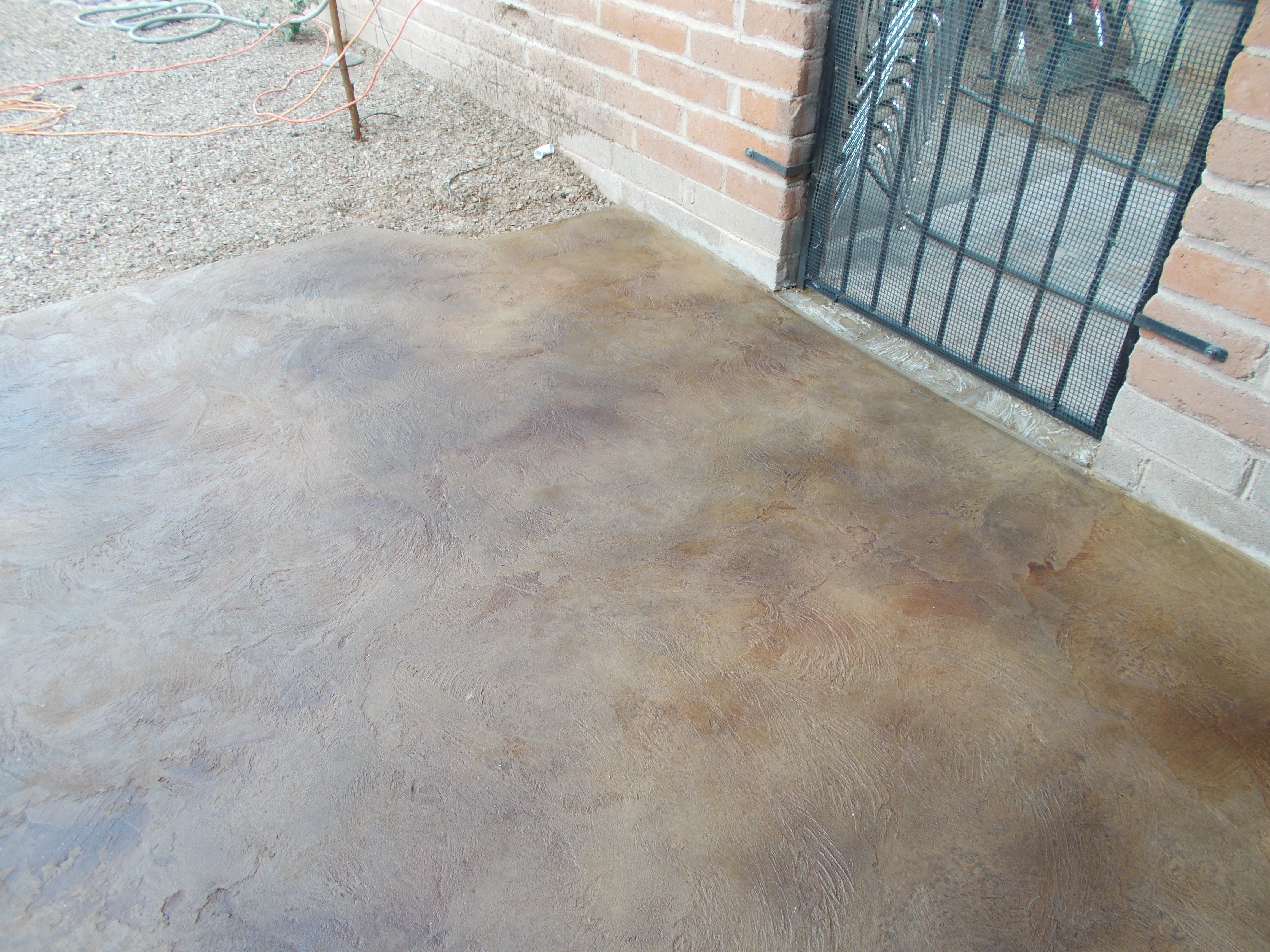 Stained Concrete Patio Patterns Home Design Inside Pre Lit regarding sizing 4608 X 3456
