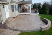 Stamp Concrete Patios Stamped Concrete Patio Add Bench within proportions 4928 X 3264