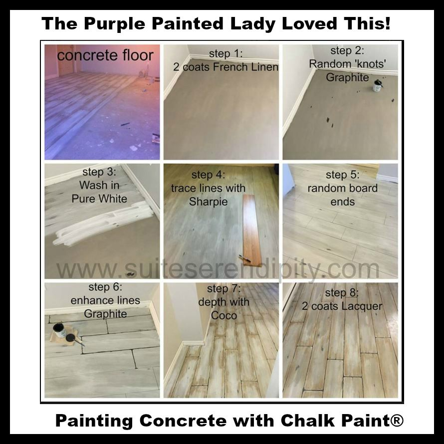 The Purple Painted Lady Chalk Paint On Concrete Suite with proportions 890 X 890