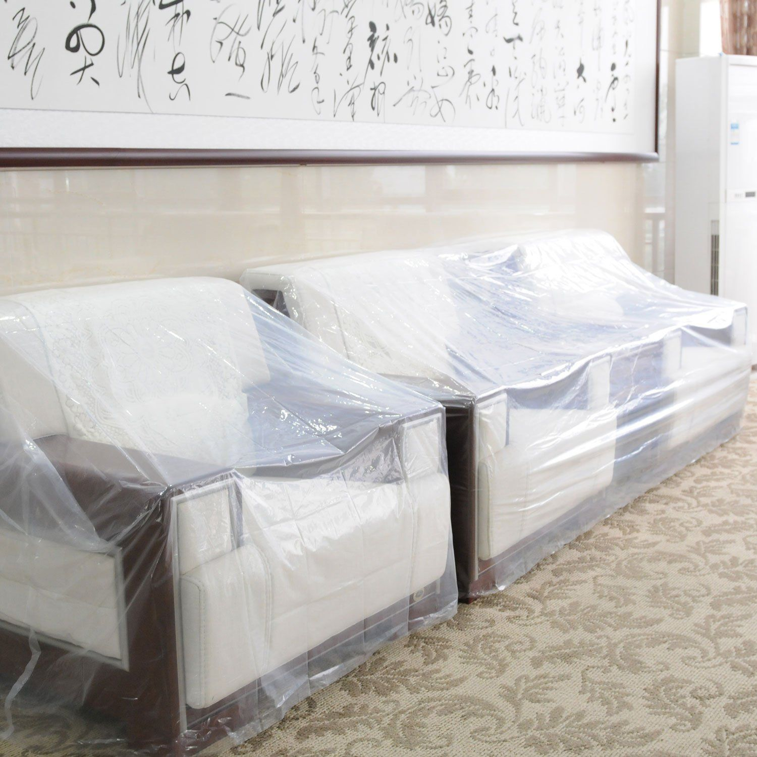 Topsoon Couch Cover For Moving Plastic Furniture Cover Clear for measurements 1500 X 1500