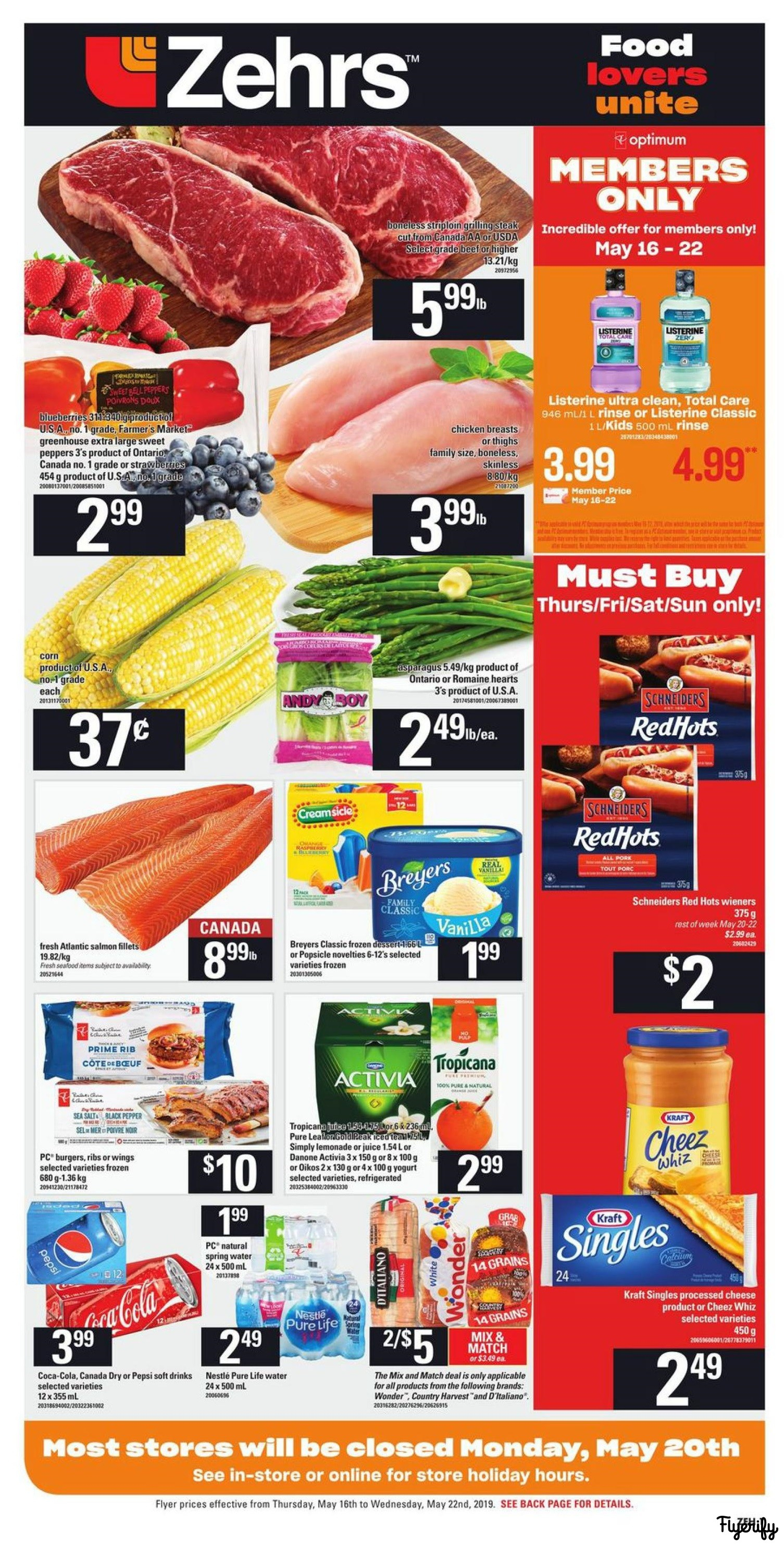 Zehrs Flyer May 16 To 22 Canada within dimensions 1505 X 2965