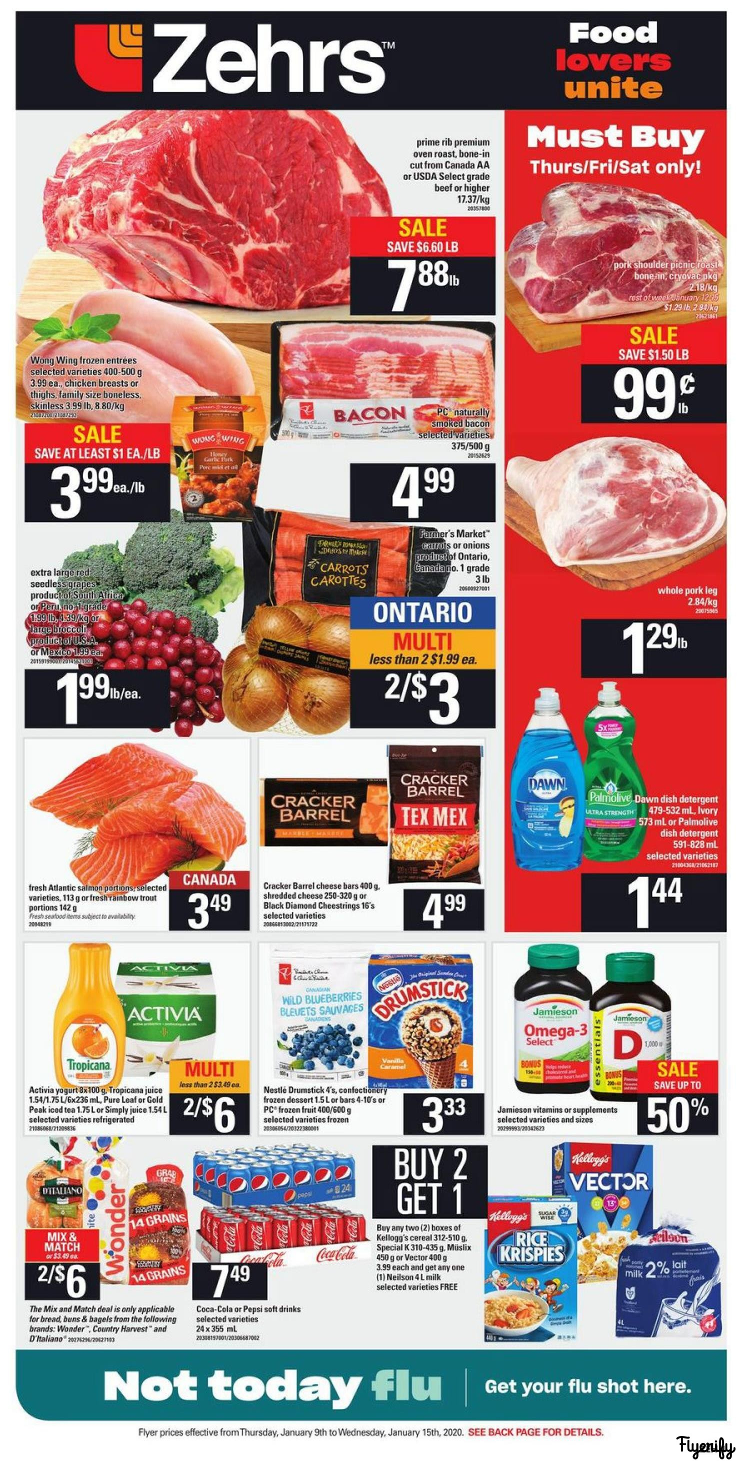 Zehrs Flyers within measurements 1482 X 2928