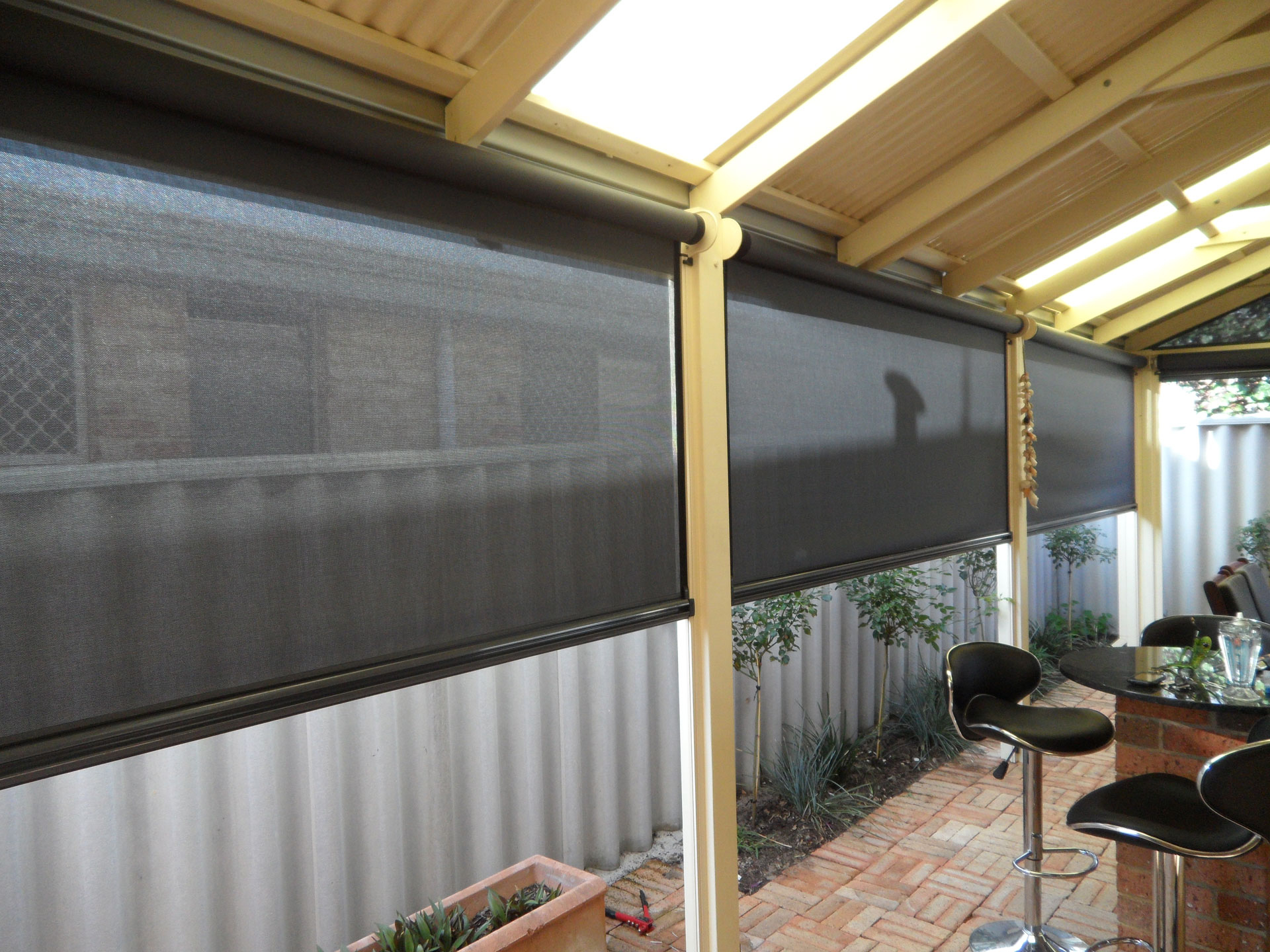 Ziptrak Outdoor Blinds Perth Fast Metro Installation throughout dimensions 1920 X 1440